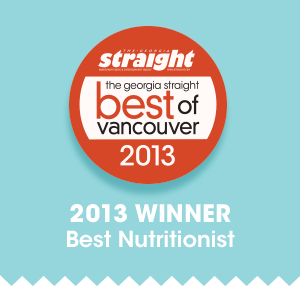 Winner Best Nutritionist Vancouver 2013
